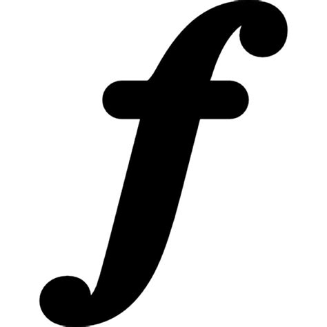 musical symbol of letter f icons free download