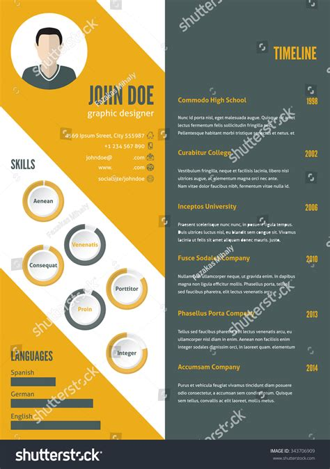 curriculum vitae new design new modern resume cv curriculum vitae template design with