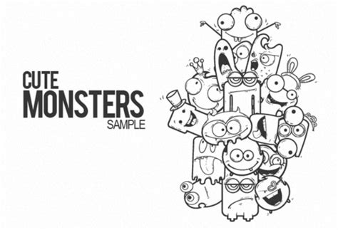 doodle monsters vector free doodle free vector 494 files for