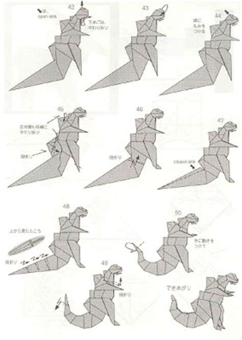 How To Make An Origami Godzilla - papiroflexia para tod s enero 2012