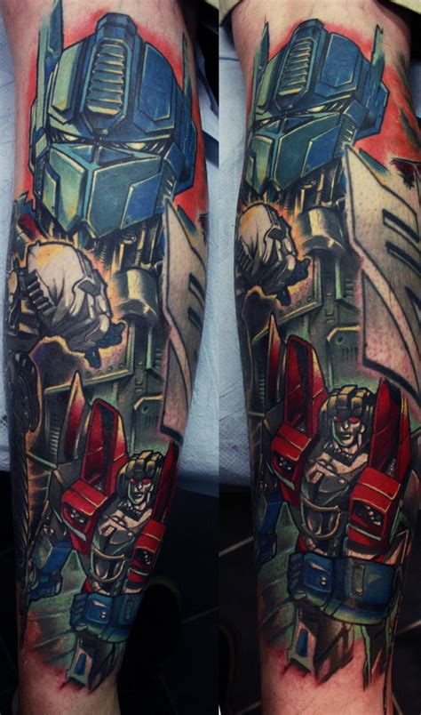 transformer tattoo transformers done by edgar ivanov at