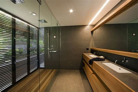 minimalist bathroom design beach house in sydney transforms to mimic a stylish luxury resort