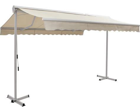ziehharmonika markisen mobile markise 4x3 m stoff uni beige bei hornbach kaufen