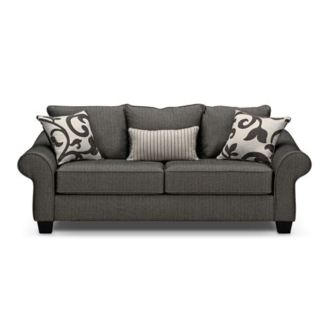 colette gray full memory foam sleeper sofa value city