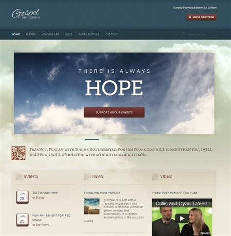 church site templates 25 top church website templates for religious websites