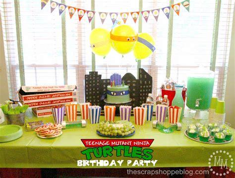 ninja turtle themed birthday party teenage mutant ninja turtle tmnt birthday party the