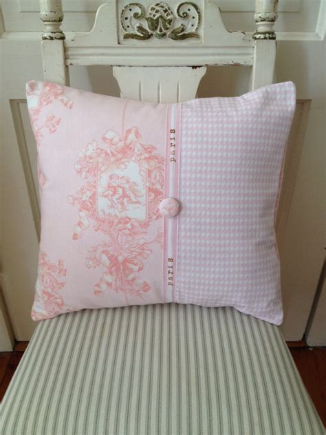 shabby chic pillow covers country pillow cover shabby chic pillow pink
