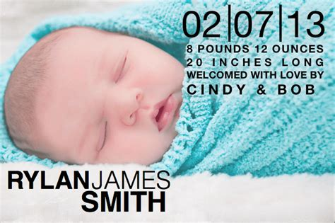 birth announcement template with block text free iwork