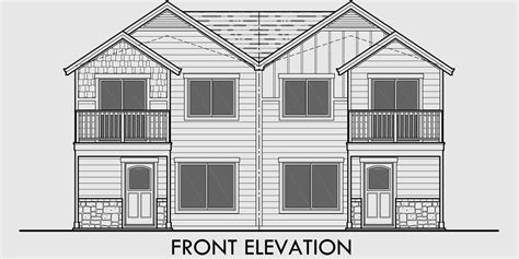house plans with garage in front duplex house plans house plans with rear garages d 568