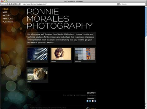 free photography web template 12 photography portfolio website template free images