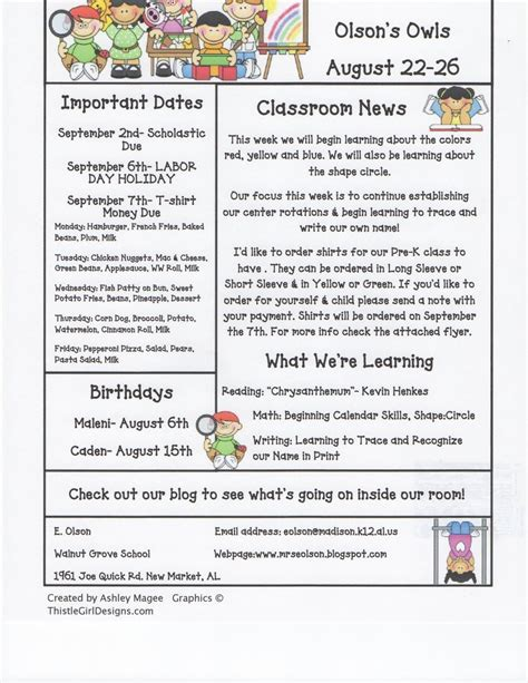 Mrs Olson S Rockin Kindergarten Krew Weekly Newsletter Classroom Management Pinterest Preschool Weekly Newsletter Template