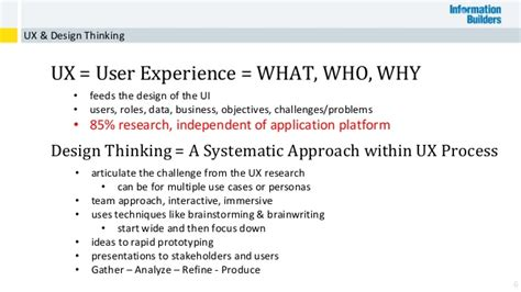 design thinking ux ux design thinking for bi applications