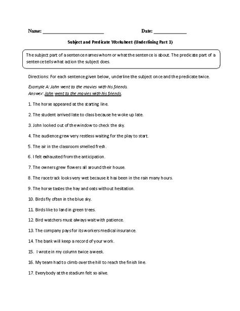 Subject And Predicate Worksheets by 19 Best Images About Grammar And Punctuation On