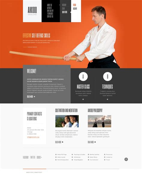 website templates for karate martial arts website template 42183