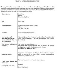how to write a letter to a senator sle countering the