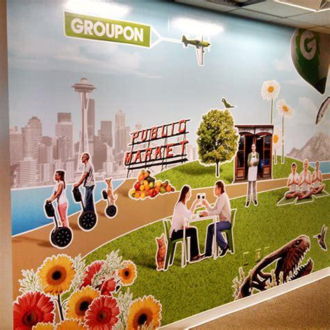 groupon wall mural portfolio page 2 productions portland oregon retail graphics vinyl vehicle wrap window