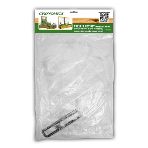 gronomics trellis net kit 48x80 the home depot canada