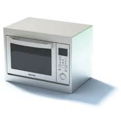 new white compact microwave oven 3d model cgtrader