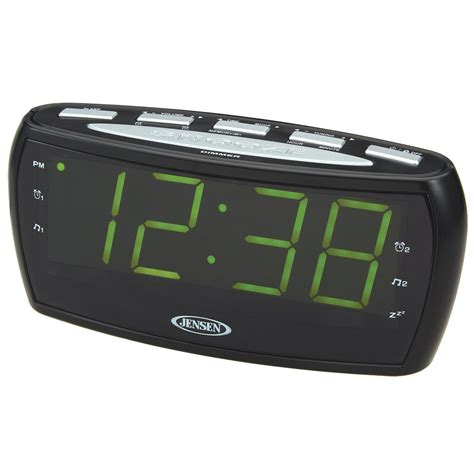 am fm alarm clock radio with large display jcr 208 the home depot