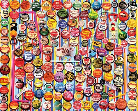 Jigsaw Puzzle Worldwide Bottles 1000 lionheart designs international soda bottle caps jigsaw