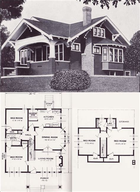 Craftsman Bungalow Floor Plans by 17 Best Ideas About Vintage House Plans On Pinterest