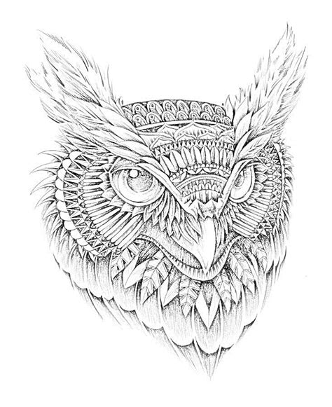 owl head coloring page owl head tattoo how to draw anything pinterest head