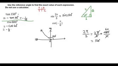 find the exact value of trigonometric functions without