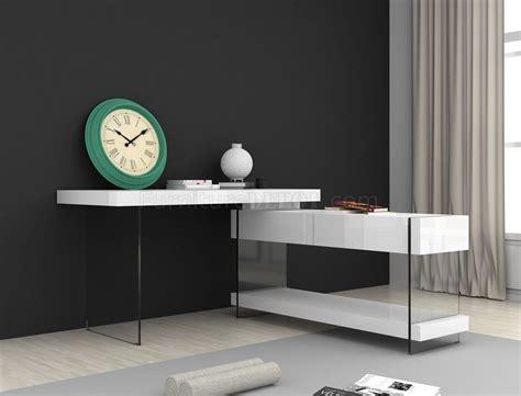 cloud modern office desk  white gloss glass  jm