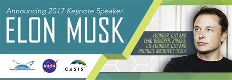 elon musk keynote spacex founder elon musk named keynote speaker at annual