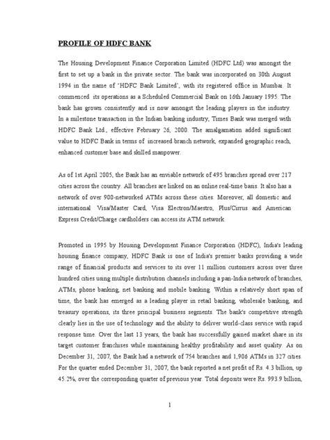 Hdfc Credit Letter hdfc bank letter of credit banks