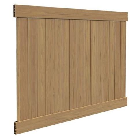 Privacy Fence Panels Home Depot by Veranda Linden 6 Ft H X 8 Ft W Cypress Vinyl Privacy