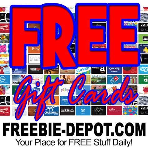 Surveys For Free Gift Cards - free gift cards freebie depot