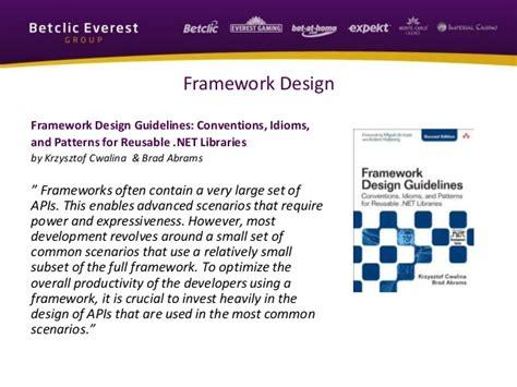 framework design guidelines krzysztof cwalina mini training scenario driven design