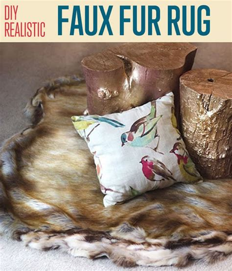 Diy Faux Fur Rug by Diy Realistic Faux Fur Rug Diy Home Decor Diy Ready