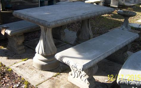 concrete picnic table and benches southern precast concrete products