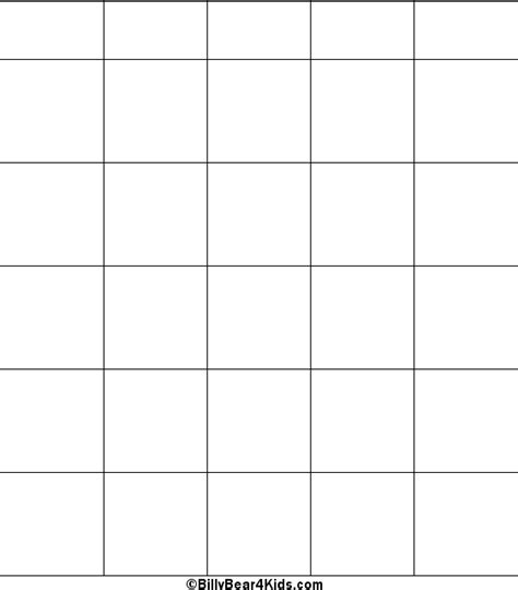 Blank Bingo Card Template 4x4 by Enoch S Blank Bingo Cards To Print