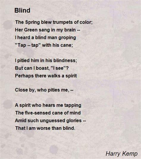 Blind Poem blind poem by harry kemp poem