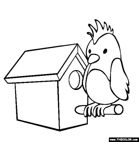 Bird Coloring Page  Free Online sketch template