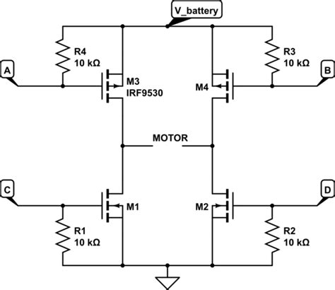 h bridge diode protection common collector h bridge driver is there a way to do this with mosfets gate voltage seems