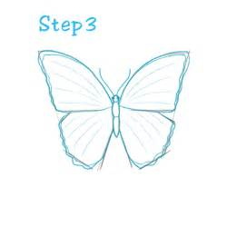 How To Draw Butterfly How To Draw A Simple Butterfly Step By Step