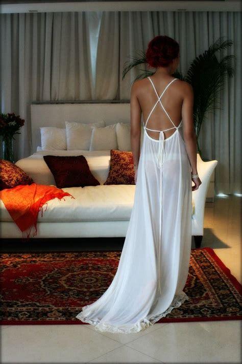 12868 Backless Dress bridal nightgown backless bridal sleepwear