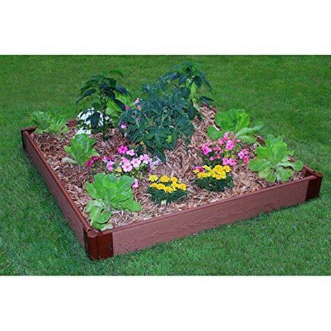 plastic raised garden bed kits frame it all one inch series composite raised garden resin