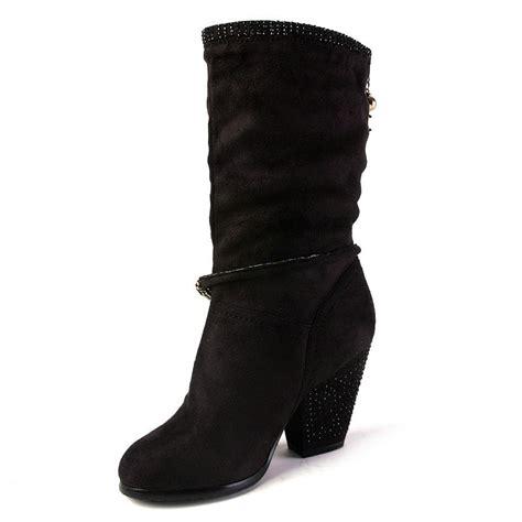 boots high heel black shoes sale