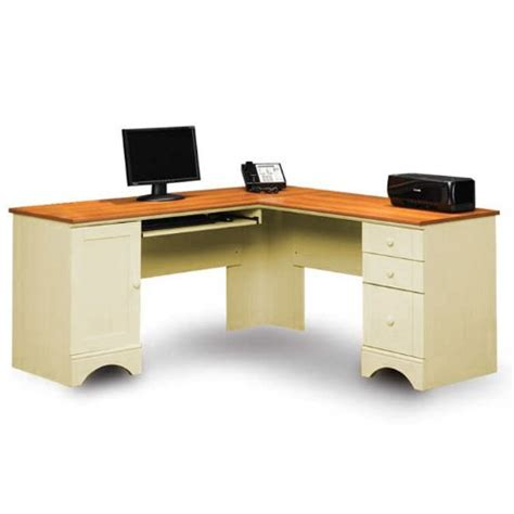 sauder harbor view corner computer desk antiqued paint sauder computer desks save now click sauder harbor view