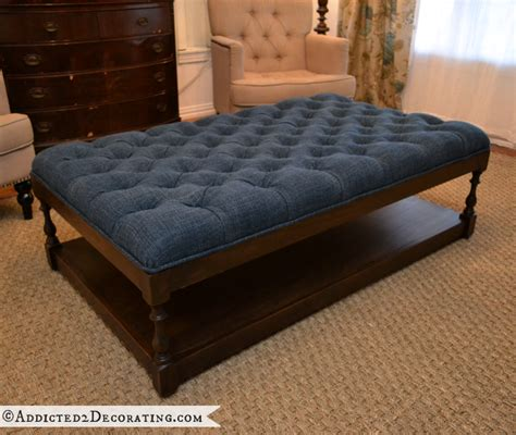 make a tufted ottoman diy ottoman coffee table finished