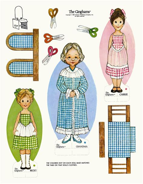 paper dolls book five the ginghams visit paper doll book 5 dolls
