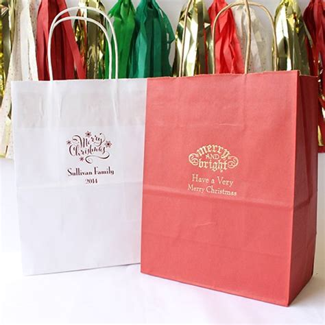 personalized gift bags holiday gift bags personalized