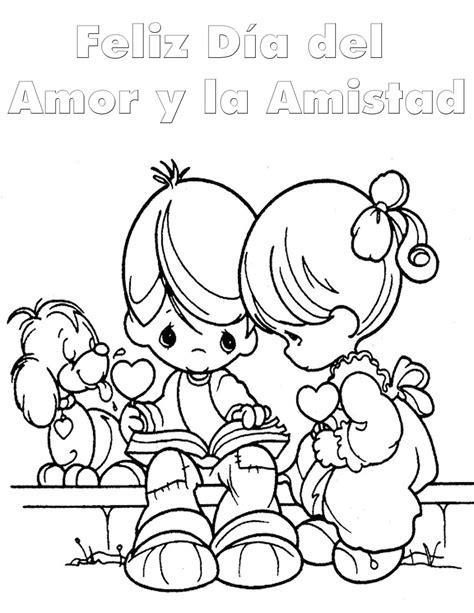 imagenes de amor y amistad infantiles para colorear dia del amor y la amistad para colorear