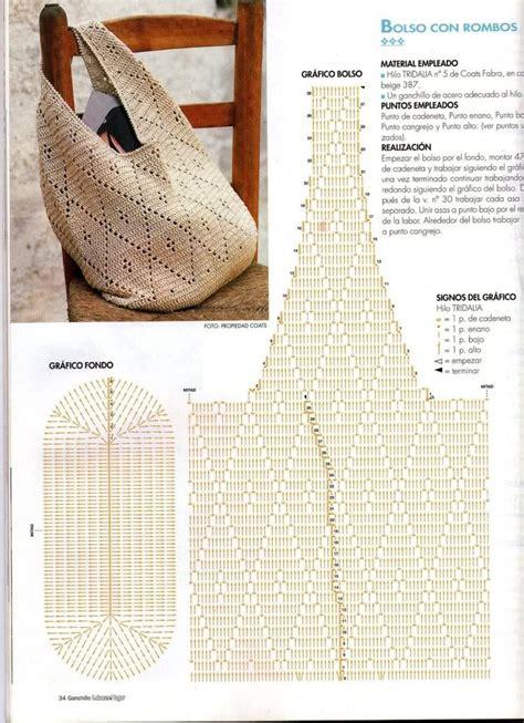 ideas y esquemas para tejer bolsos o carteras el blog de las 25 mejores ideas sobre bolsos de ganchillo en