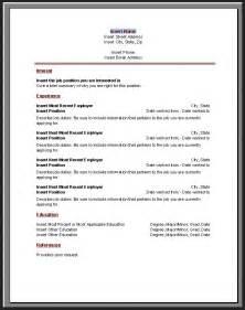 chronological resume template microsoft word resume